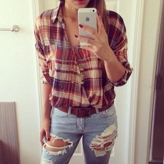 blouse flanel shirt lovely