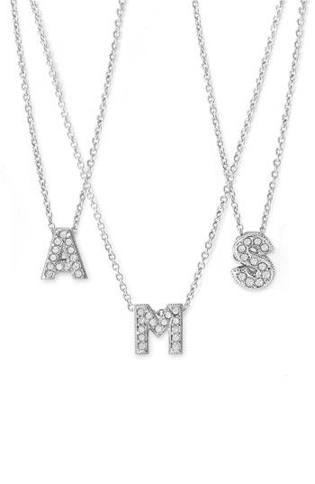 Nadri initial pendant necklace nordstrom aloadofball Choice Image