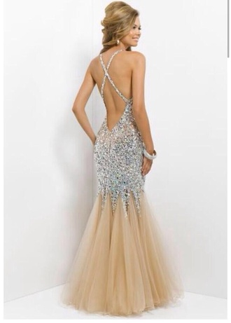 prom sparkle long gown dress nude prom dress nude prom dress sparkly prom dress criss cross backless prom dress backless prom dress prom gown rose gold backless fishtail fashion gold beautiful amazing white gorgeous champagne dress sparkly dress mermaid prom dress