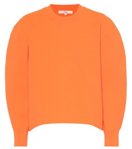 Tibi Sculpted sweater in orange