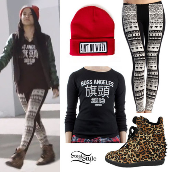 shirt becky g beanie aztec leggings
