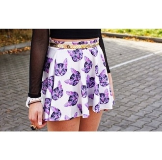 skirt cats animal print shorts jeans pants t-shirt shirt girly outfit purple dress black belt gold vintage indie fashion tomboy beautiful girl lookbook aztec leggings prom dress skater skirt