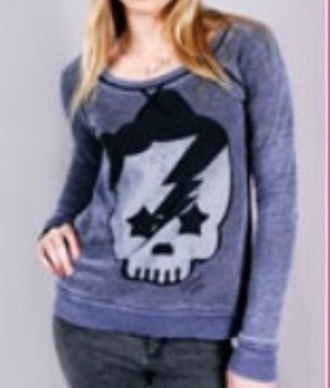 sweater purple skull avril lavigne