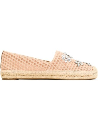 embellished espadrilles purple pink shoes