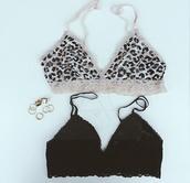 underwear,bralette,leopard bralet,leopard print