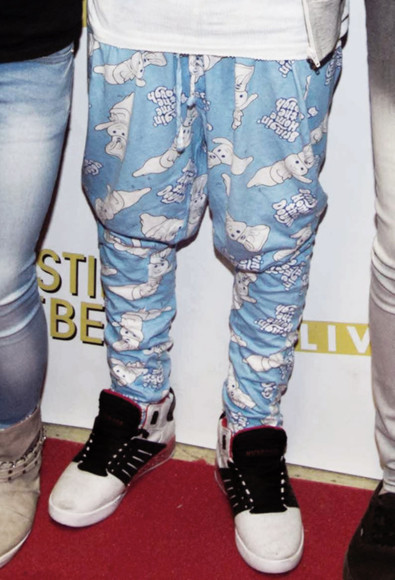 justin bieber pants drop crotch pants