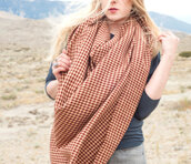 scarf,forgotten cotton,blanket scarf,blanket,oversized,rust,tan,brown,plaid,flannel scarf,plaid blanket scarf,chunky,large