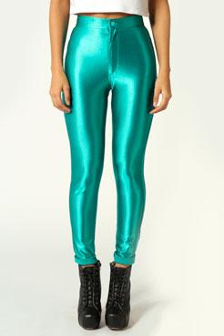 Samantha High Rise Disco Pants at boohoo.com
