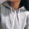 Fashion long sleeve zip hooded sweater 62402