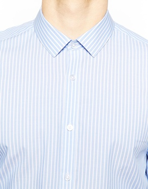 ASOS | ASOS Shirt In Long Sleeve With Bold Stripe at ASOS
