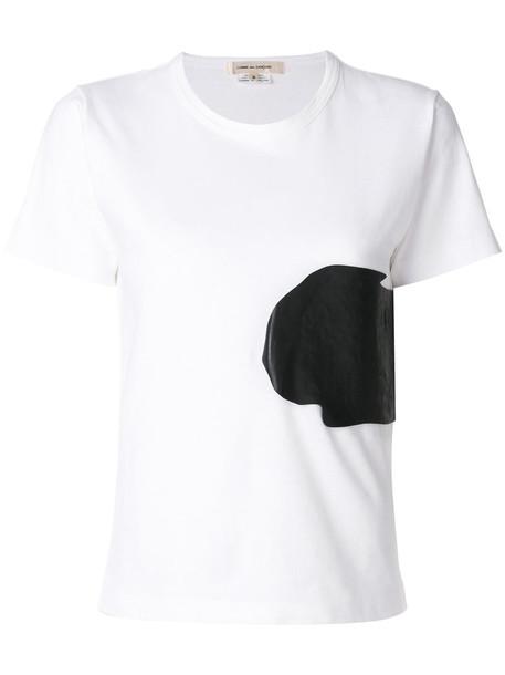 Comme des garcons t-shirt shirt t-shirt women white cotton top