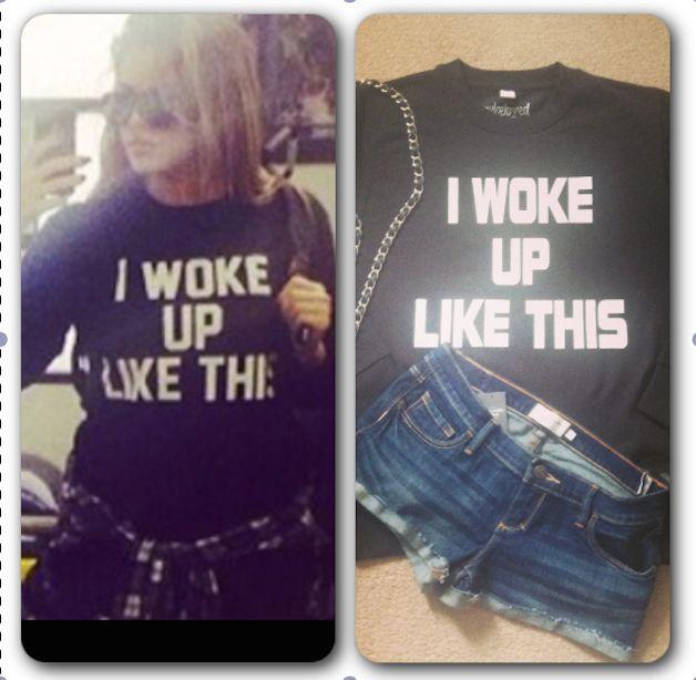 I Woke up like this sweatshirt Black swag blogger celeb Kardashian tumblr | eBay