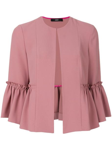 Steffen Schraut jacket ruffle women purple pink