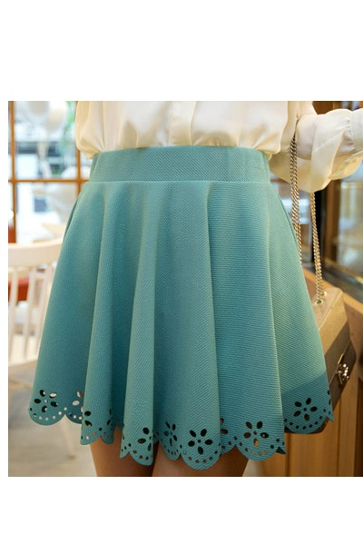 (todre0680) mint cut out skirt, ianywear