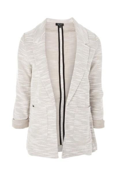 Topshop blazer boyfriend blazer pale boyfriend grey jacket