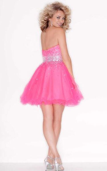 Sticks & Stones Pink Short Homecoming Dress ML 9210 [Pink Short Dress ML 9210] - $129.00 : Discover Unique Dresses Online at PromUnique.com
