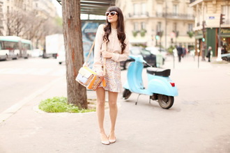 blouse skirt bag sunglasses the cherry blossom girl