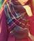 Black and burgundy tartan scarf
