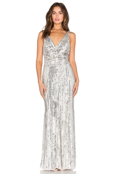 Parker Black dress metallic silver
