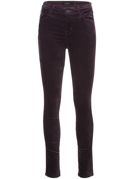 J BRAND jeans skinny jeans women cotton purple pink