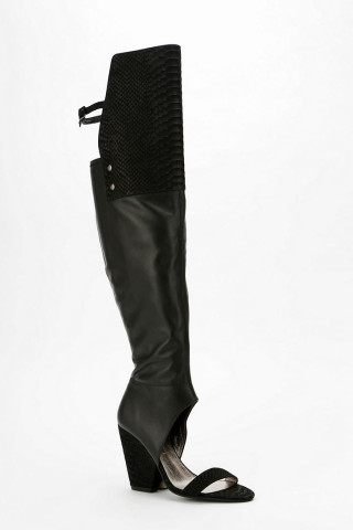 Jeffrey Campbell 3rd Street Peep-Toe Over-The-Knee Boot | Keep.com