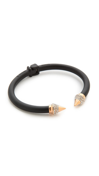 Vita Fede Mini Titan Two Tone Crystal Bracelet - Matte Black/Rose Gold