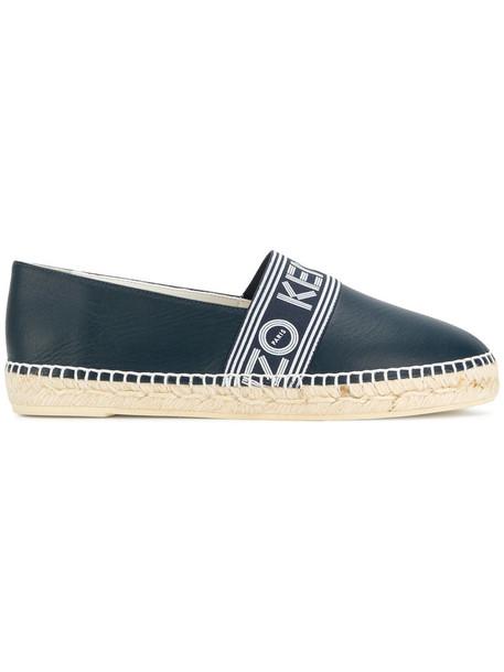women espadrilles leather blue shoes