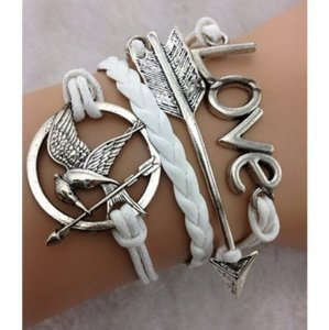 Amazon.com: EmBest White Antique Silver Arrow Bracelet,Hunger Game Bracelet,Love Bracelet: Arts, Crafts & Sewing