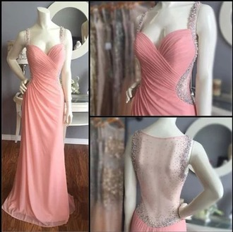 dress prom dress long dress pink dress backless dress lace dress