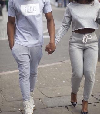 pants grey grey sweatpants