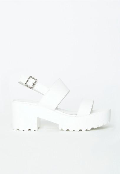 Waverly White Platform Sandals - Sandals - Missguided