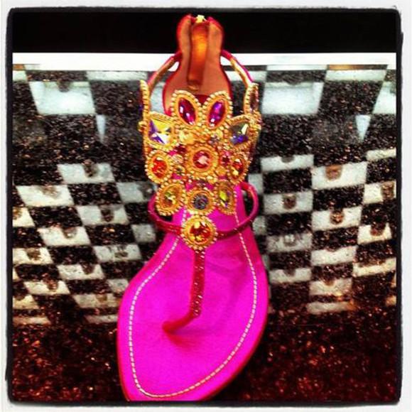 embellished shoes jewels purple sandals