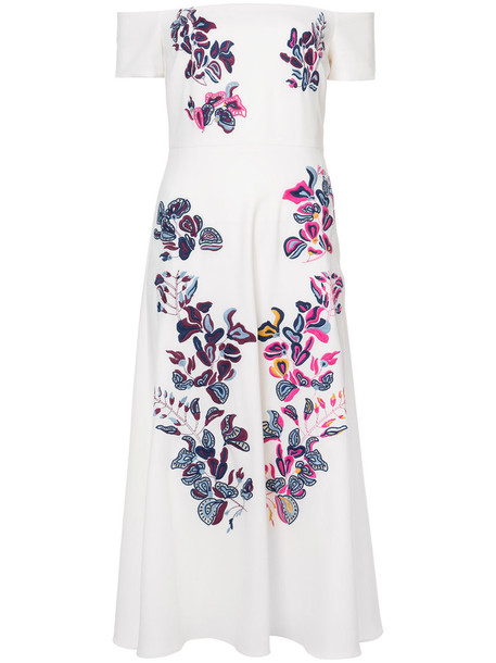 TANYA TAYLOR dress embroidered women white