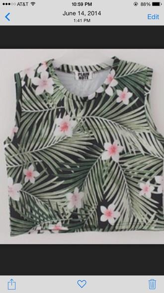 shirt plants cute halter neck halter top