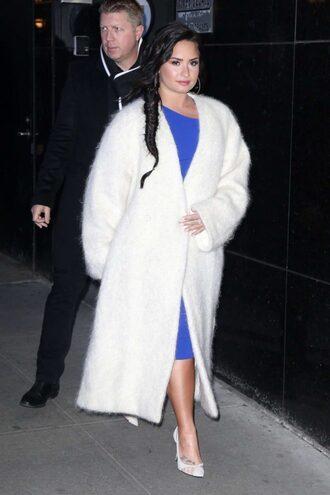 dress midi dress blue blue dress demi lovato pumps
