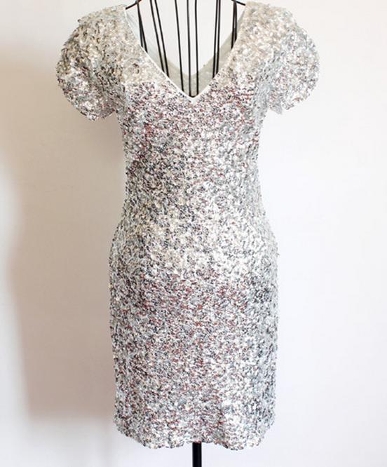 Shining sequins hot sexy dress