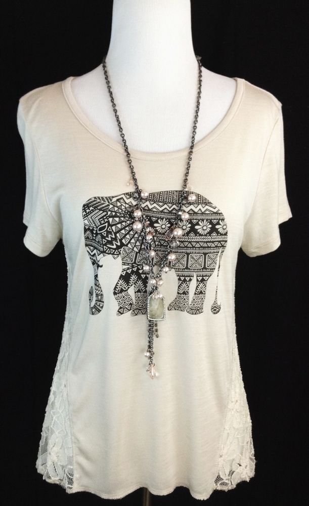 Shirt top w lace medium m free earrings!