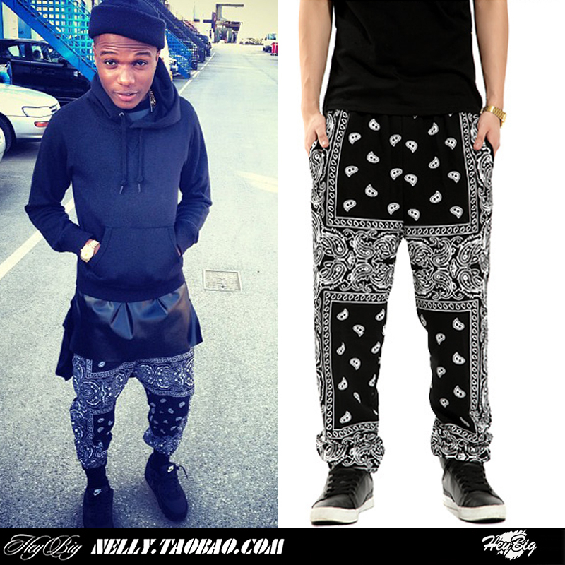 Christmas  fashion street west coast hiphop cashers fashion  casual health    bandana pants trousers-inPants from Apparel & Accessories on Aliexpress.com