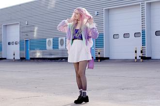 kayla hadlington blogger jacket top skirt