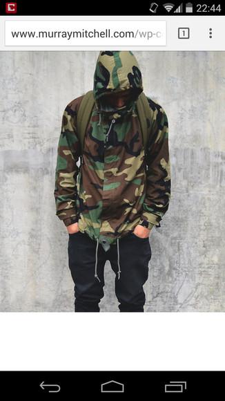 jacket menswear camouflage camo jacket windbreaker