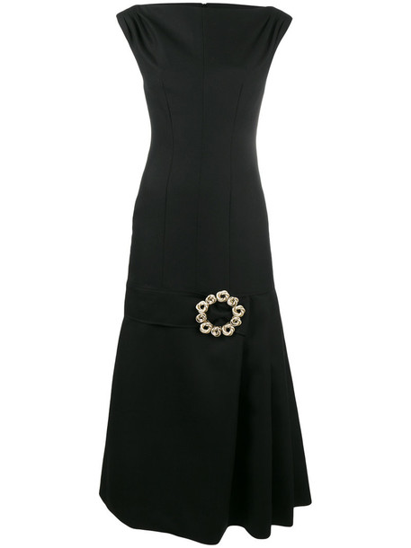 Jacquemus dress women midi cotton black wool