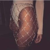 jewels,skirt,sparkle,diamonte