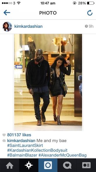 shoes kim kardashian yves saint laurent skirt
