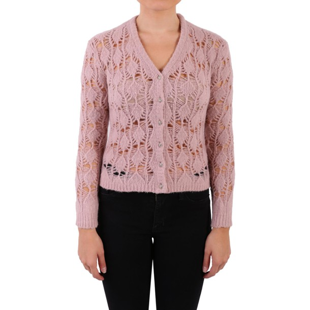 Blugirl cardigan cardigan knit crochet blush sweater
