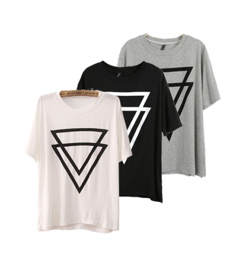 Double triangle cotton tee