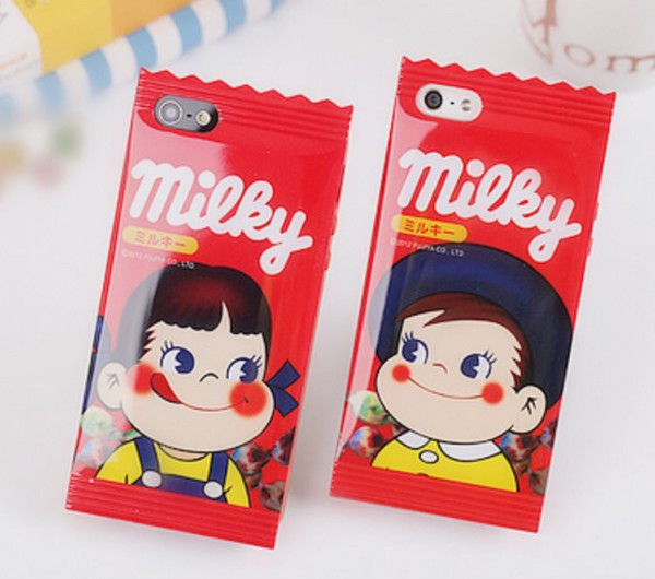 jewels red milky iphone iphone case kawaii japan iphone cover Accessory