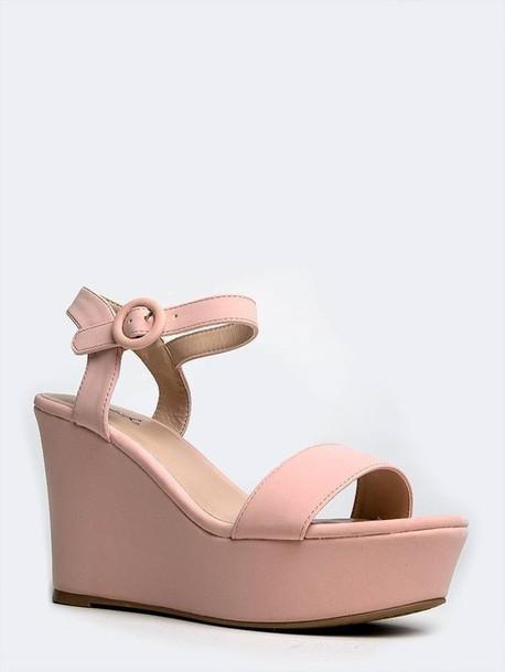 shoes, blush shoes, nubuck wedges