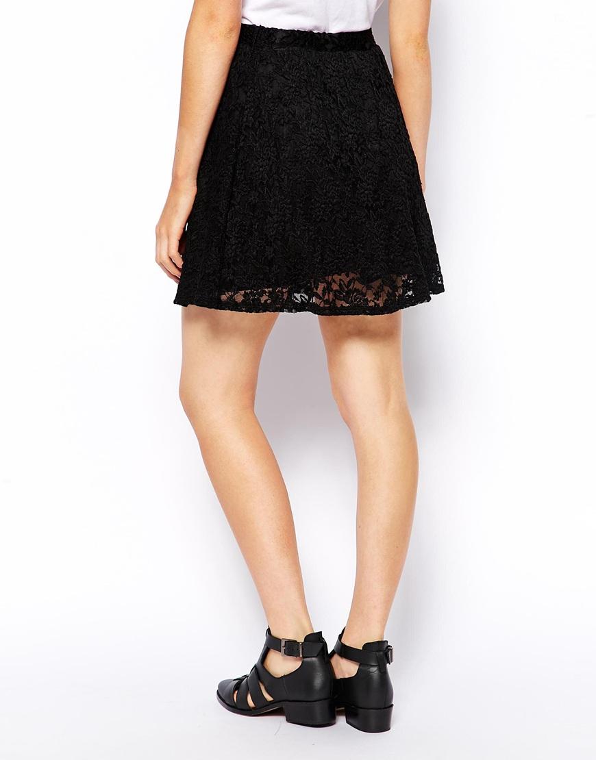 ASOS Skater Skirt In Lace at asos.com