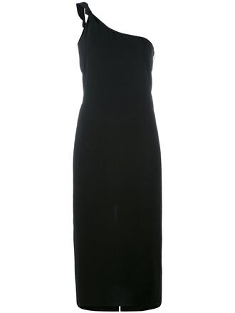 dress one shoulder dress women black