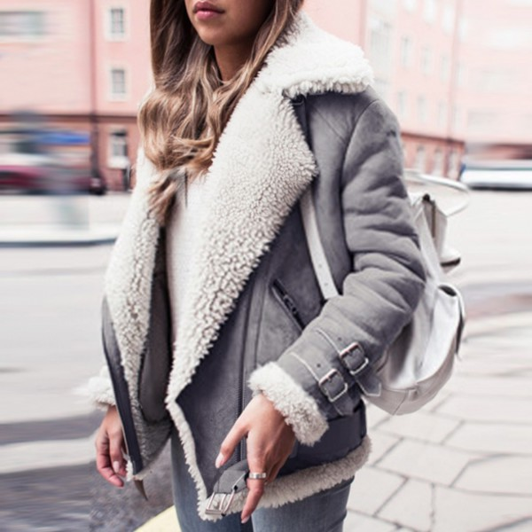 coat outfit made jacket jacket coat fur fleece winter outfits fall outfits fall outfits grey beige tumblr outfit